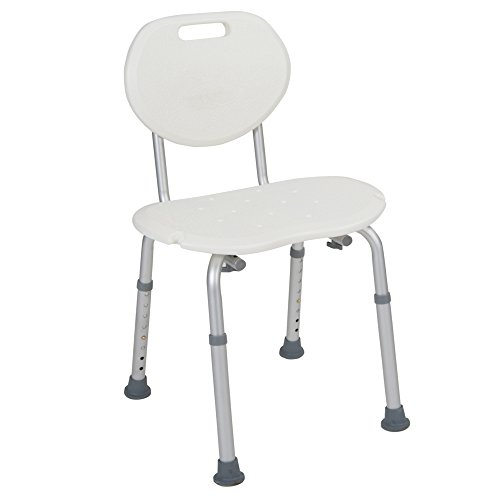 Drive Medical Bath Seat with Oval Back, White