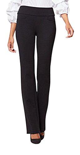 New York & Co. Women's 7Th Avenue Pant - Bootcut - Signature Ponte XLarge Black