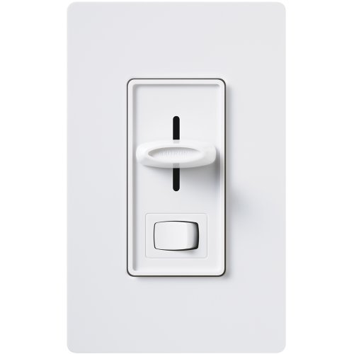 - Lutron SLV-600P-WH 600-Watt Skylark Magnetic Low-Voltage Single-Pole Dimmer