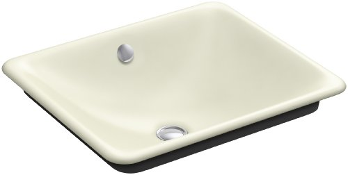 - Kohler 5400-P5-FD Cast Iron undermount Rectangular Bathroom Sink, 23.75 x 20.25 x 9.25 inches, Cane Sugar