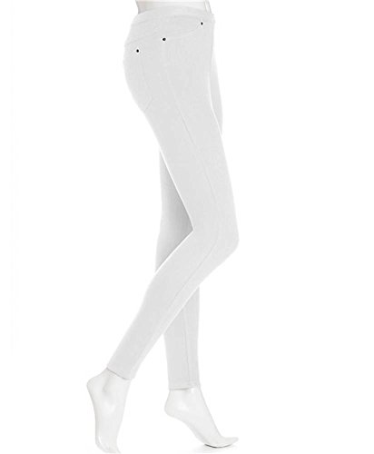 Hue Womens Original Denim Legging, S, White (Jeans Hue Leggings Skinny)