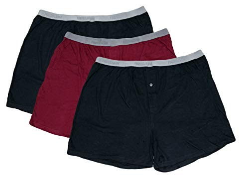 Fruit of the Loom Solid Knit Boxers 3-Pack (Colors and Patterns May Vary) … (Assorted Colors Dark, 2X Big)