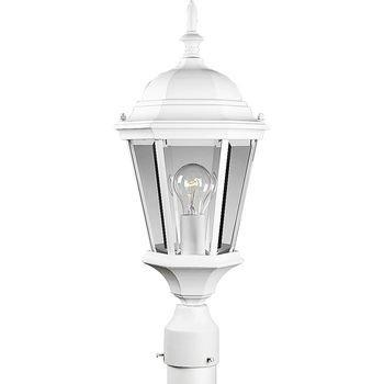 Lights Progress Lighting Post - Progress Lighting P5482-30 Cast Post Lantern with Clear, Beveled Glass, Textured White