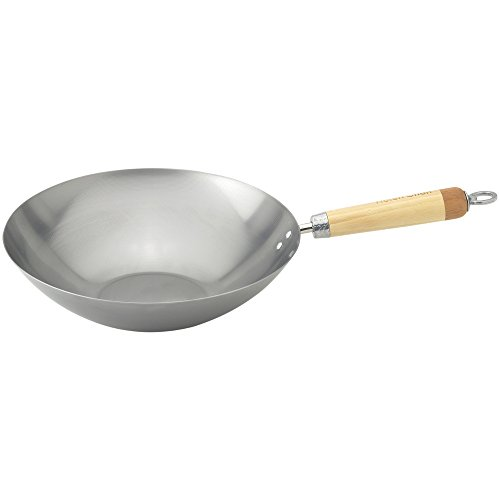 Helen Chen's Asian Kitchen Carbon Steel Wok Stir Fry Pan, ()