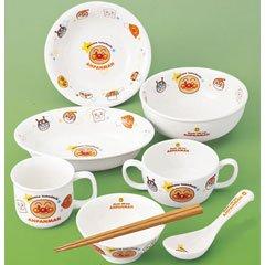 KimuTadashi pottery Children's tableware it should Anpanman Children's tableware 8 piece set 074 753