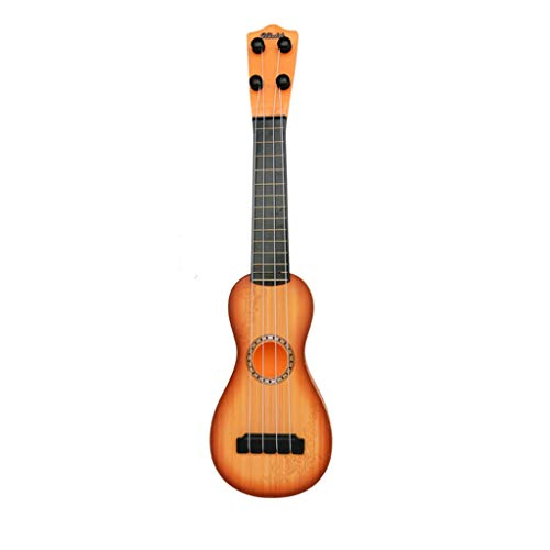 - BAOMABA Ukulele Guitar for Kids Wooden Toy Ukulele Sturdy Ukulele-Non-Toxic Musical Instrument Wooden Toy 4-String Ukuleles Children Education Wooden Toy Best Gift