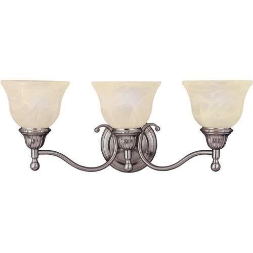 Maxim Lighting Soho Satin Nickel 3-Light Vanity Light 11058SVSN (Nickel Three Soho Light)