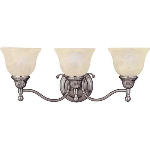 (Maxim Lighting Soho Satin Nickel 3-Light Vanity Light 11058SVSN)