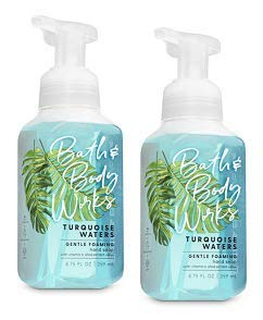 Bath and Body Works 2 Pack Turquoise Waters Gentle Foaming Hand Soap 8.75 Oz.