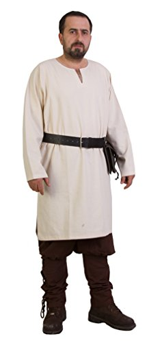Odin Medieval Viking LARP Pirate Cotton Mens Shirt Tunic-Made in Turkey -