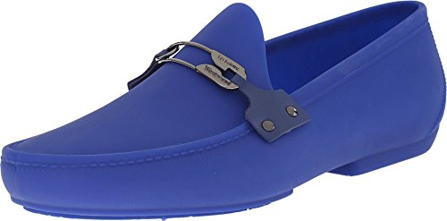 Vivienne Westwood Men's Safety Pin Moccasin Blue Loafer by Vivienne Westwood