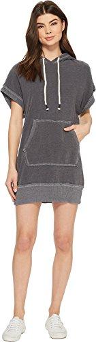 Splendid Women's Sleeveless Sweatshirt Hoodie Dress Ink Large Street Chic Women Apparel Retail