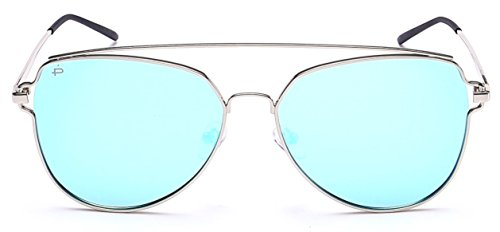 """PRIVÉ REVAUX """"The Celebrity"""" [Limited Edition] Handcrafted Designer Polarized Aviator Sunglasses For Women & Men (Nickel)"""