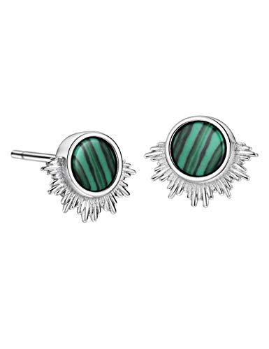 Malachite Pegasus Stud Earrings Sterling Silver Statement Earring for Women