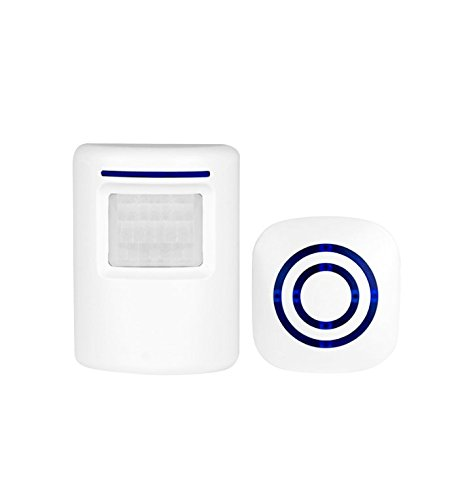 Cheapest Prices! Suriora Wireless Welcome Alert Door Bell: Infrared Motion Sensor Alarm Chime with L...