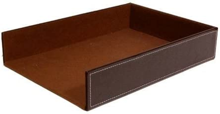 The Lucky Clover Trading Roosevelt Faux Leather Document Tray, Brown