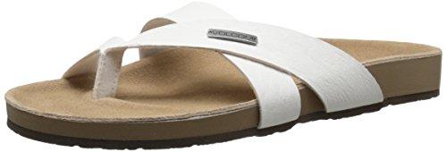 Volcom Women's Selfie Sandal Flat Sandal White y4cnmA