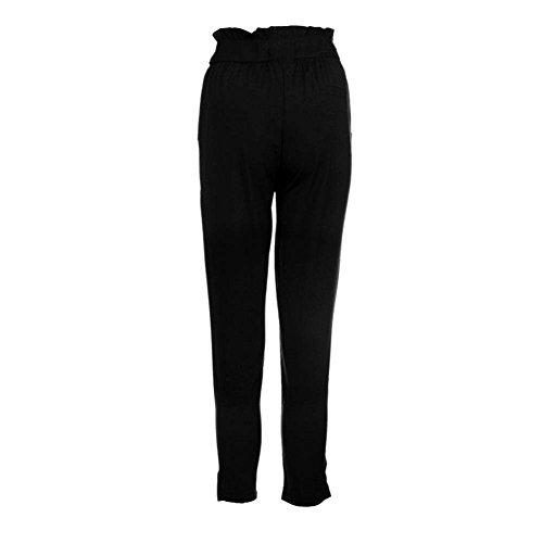 Slim Elegante Cintura Pantalones Casual Basicas Cómodo Alta Negro Unicolor Con Disfraz Elasticos Fit Mujer Moda Skinny Pants Largos Bolsillos rxIwAw5qE