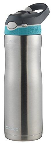 Contigo AUTOSPOUT Straw Ashland Chill Stainless Steel Water Bottle, 20 oz., Scuba