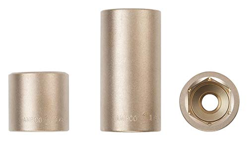 "Ampco 42mm Aluminum Bronze Socket with 3/4"" Drive Size and Natural Finish - DW-3/4D42MM"