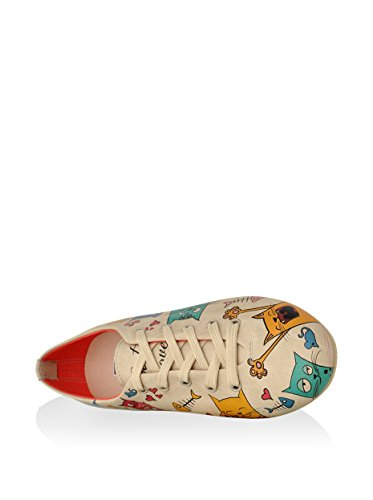 DOGO Oxford - Cat Lovers Beige/Mehrfarbig