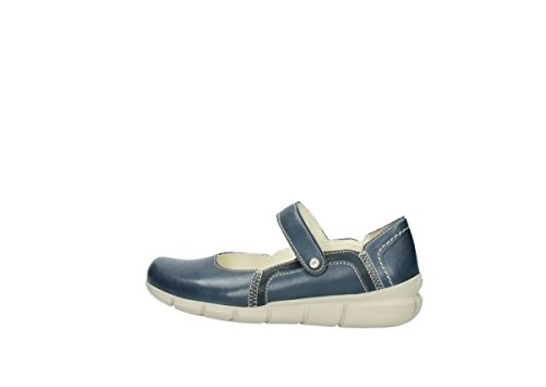 Mary Leather Summer Janes Comfort 70870 Wolky Tanana Blue 80APPw