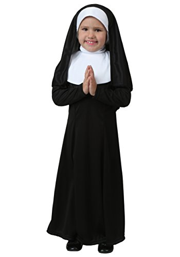 Little Girls' Nun Costume 4T Black,White -