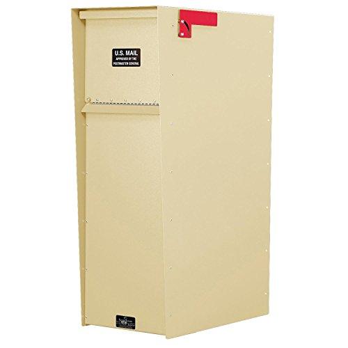 (Jayco LLA5RSUP Supreme Rear Access Aluminum Letter Locker Mailbox Tan )