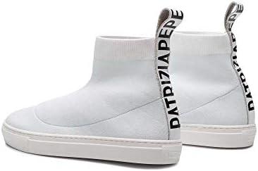 PATRIZIA PEPE Scarpe Sneakers Alte Pelle Bianche 2V8845 n 36, 37, 38, 39, 40 S1/77