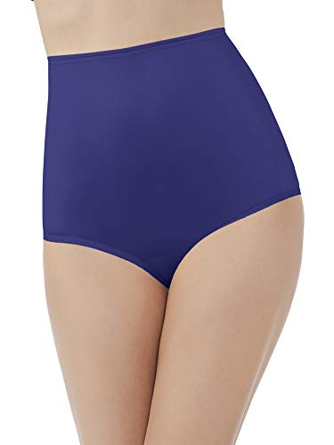Vanity Fair Women's Perfectly Yours Ravissant Tailored Nylon Brief Panty - Size 3X-Large / 10 - Navy