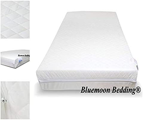 117 x 54 x 10 cm H /& H Traders Quilted Anti-Allergenic Breathable Foam Cot Mattress