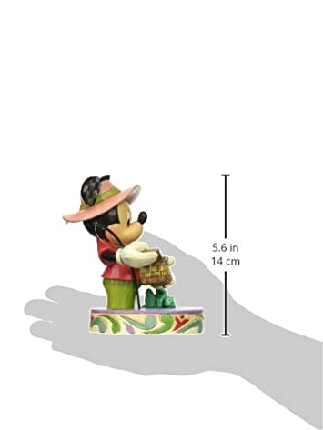 Enesco Disney Traditions by Jim Shore Mickey Mouse Fishing Figurine, 5.in