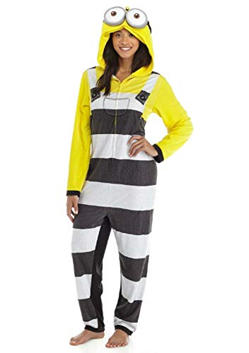Briefly Stated Despicable Me Minion Hooded One Piece Pajamas (Yellow, Small) -
