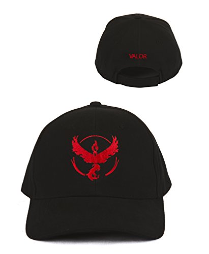 Best Pokemon Go Hats, Team Valor Baseball Cap, Embroidered Front and Back with Logo and Team Name, Show Your Team Spirit While Playing Pokemon Games and Becoming a Pokemon Master