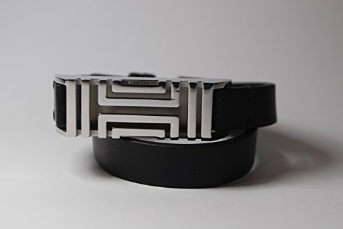 Tory Burch Fitbit Fret Double Wrap Bracelet Black Leather (Tory Burch For Fitbit Silver)