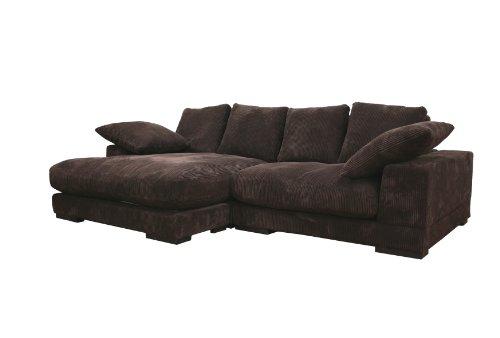 Baxton Studio Panos Dual Configuration Fabric Sectional Sofa