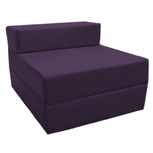 Comfortable Supreme Quality Foam Fold Out Z Bed Chair in Purple. Soft, Comfortable & Lightweight with a Removeable Waterproof Cover. Available in 10 Colours. Ready Steady Bed
