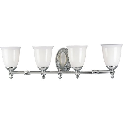 (Progress Lighting P3041-15 4-Light Victorian Bath Bracket, Polished Chrome)