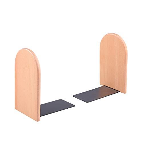 - Pandapark Wooden Bookends,Pack of 1 Pair,Non-Skid,German Beech Office Book Stand (Beech-B)