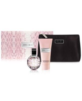 Jĭmmy Chōō 3 Pcs Set for Women 2.0 fl. oz Eau de Toilette + 3.3 fl. oz Perfumed Body Lotion + Cosmetic Bag
