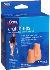 Carex Crutch Tips Standard, 7/8'' - 2 each, Pack of 6