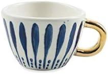 en gr/ès Villa dEste Home Tivoli 2195457 Masai Blue Lot de 6 tasses /à caf/é