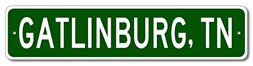 Gatlinburg, Tennessee - USA City and State Street Sign - Aluminum 4