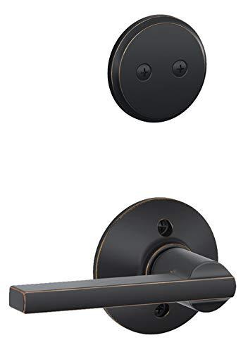 Schlage F94-LAT Latitude Lever Dummy Interior Pack, Aged Bronze