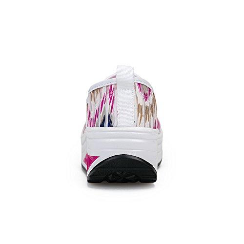 Scarpa Da Passeggio Sportiva Da Donna Casual Zicoope Slip-on Tonificante Bianco-rosa (s)