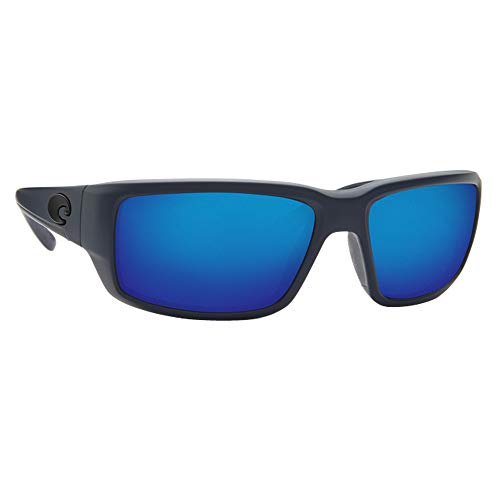 Costa Del Mar TF14OBMP Fantail Unisex Midnight Blue Frame Blue Mirror Lens Wrap ()