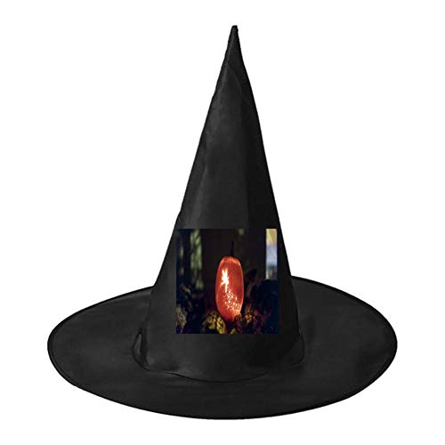Pumpkin Lantern Elf Unisex Halloween Witch Role Playing Wizard Hat for Costume Accessory]()