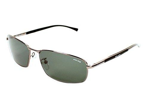 Police Sunglasses S 8650 568V Metal Gun Grey - Usa Sunglasses Police