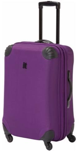 IT Frameless Small Expandable 4 Wheel Suitcase - Purple.: Amazon ...