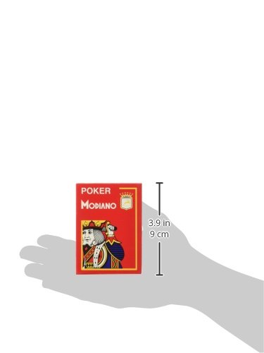 Modiano Italian Poker Game Playing Cards - RED Poker - Large 4 Index - Single Card Deck - 100% Plastic Made in Italy by Modiano (Image #3)